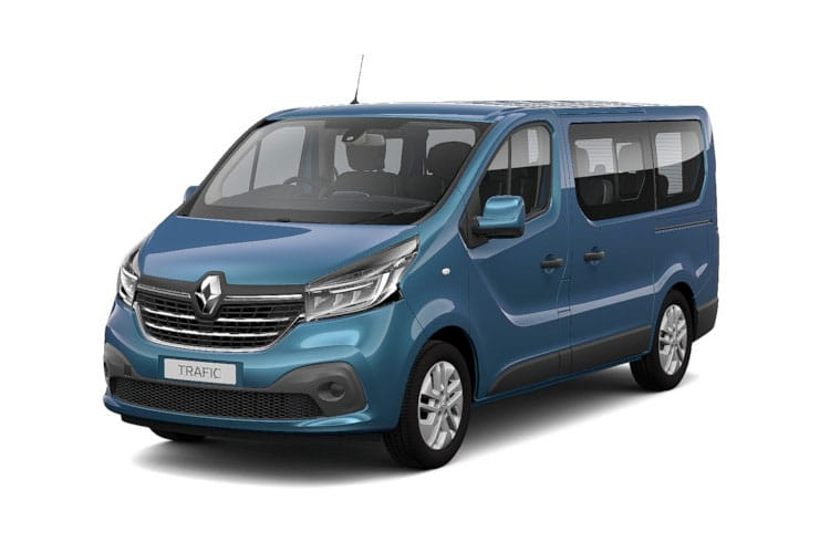 Renault Trafic 28 SWB MiniBus M1 2.0 dCi FWD 145PS SpaceClass Minibus Manual [Start Stop] [8Seat] front view